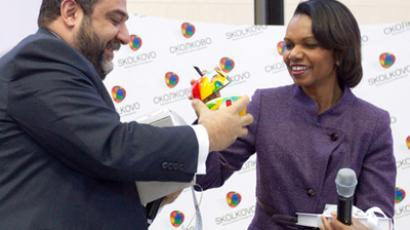 Praise for innovations: Condoleezza Rice visits Skolkovo tech-hub