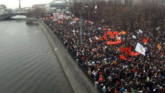 'Russian protests could lead to calls for NATO intervention'