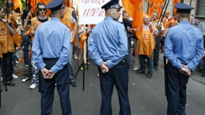 Orange anniversary: Cop-opposition clashes