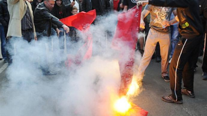 Russia blasts Ukraine nationalist riots on Victory Day