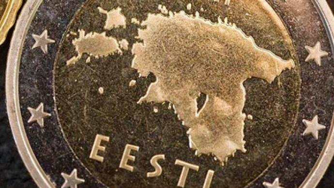 "Estonia's new euro coin ""changes"" border with Russia"