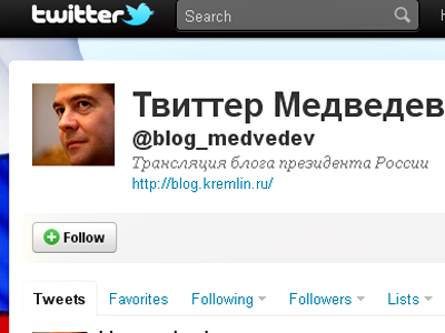 Medvedev's false blog conducts opinion poll