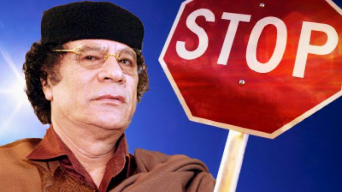 Gaddafi barred from entering Russia