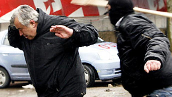 Georgian opposition keeps tab on numbers wounded in action