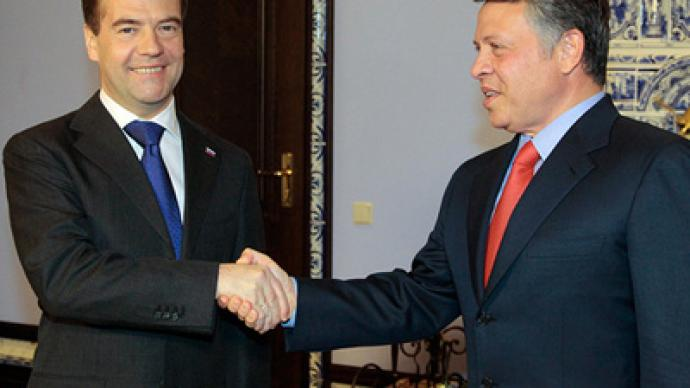 Peace trumps all during King of Jordan's meeting with Medvedev