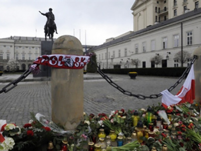 Thousands gather for memorial service in Poland