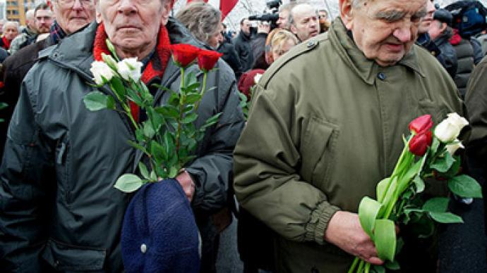 Anti-fascists rain on Waffen SS parade in Latvia