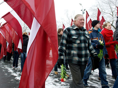 Latvian ministers boycott march of Waffen-SS veterans