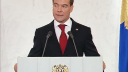 Down-to-earth problems at the core of Medvedev's second address