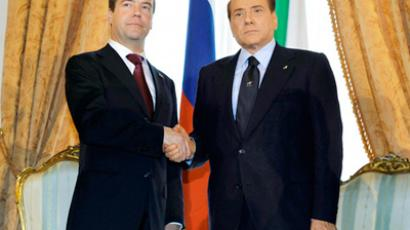 Medvedev talking Libyan war in Rome