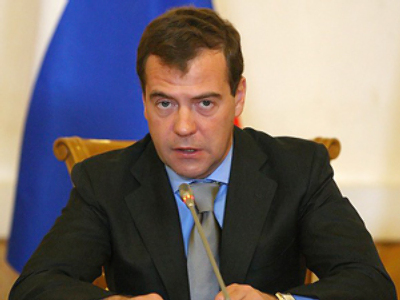 Medvedev awards Russian navy