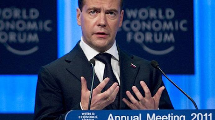 """We are what we are - but we are developing"" - Medvedev to Davos"
