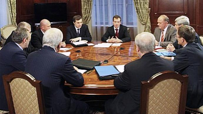 Medvedev meets leaders of parties ahead of annual address