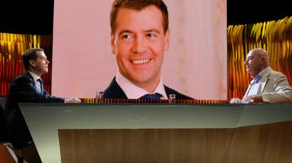 Medvedev won't rule out second term as Russian president