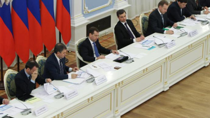Medvedev gives thumbs up to 'Russia without fools'