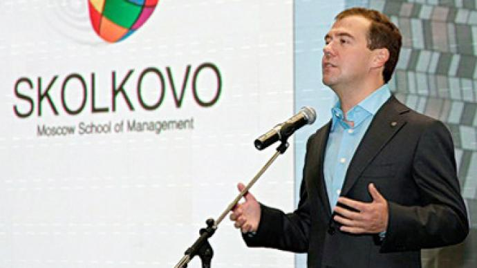 Medvedev promises state support to innovation and warns against Iron Curtain