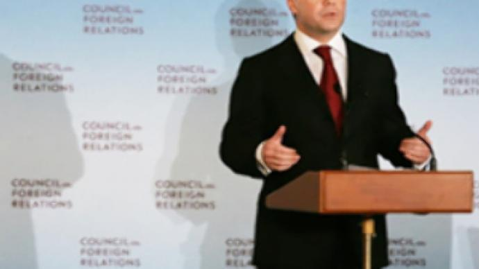 Medvedev's speech at a meeting of the US Council on Foreign Relations
