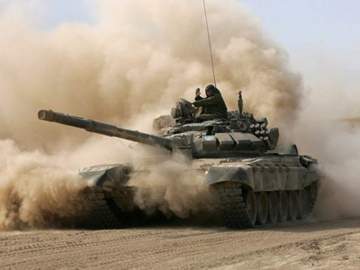 Russia and Ukraine revive war games