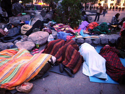 Moscow police evict opposition camp