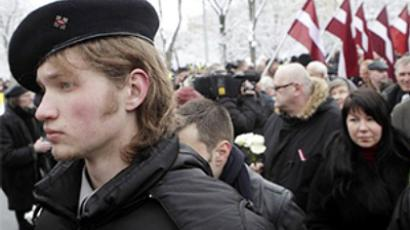 Anti-fascists rain on Waffen SS parade in Latvia