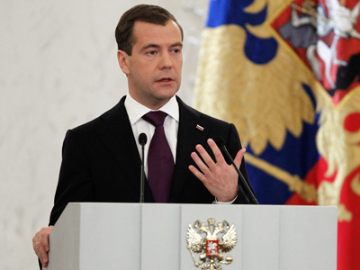 New Duma election law put forward by Medvedev