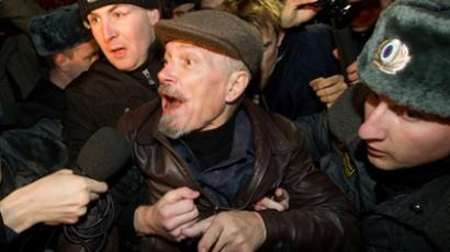 Police allows opposition to conduct first sit-in rally on Triumfalnaya Square