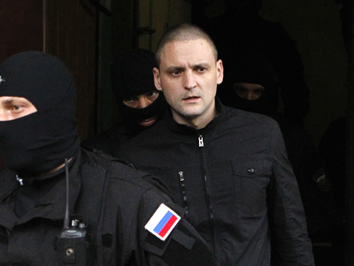 Leftist leader Udaltsov charged with conspiracy to organize riots