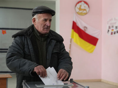 South Ossetian president blames Georgian special services for election turmoil