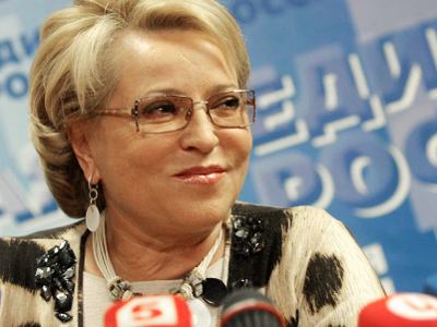 Russian upper house elects Matvienko new speaker