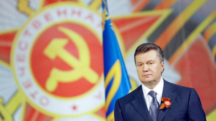 President Yanukovich blasts West Ukrainian city for ignoring Victory Day
