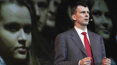 Prokhorov to 'unite society' with new party