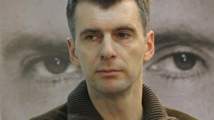 Prokhorov's presidential agenda: 'Big Europe', early Duma poll
