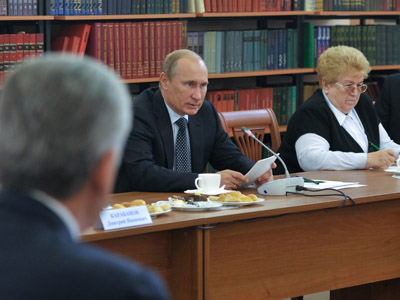 Putin pledges state support to charity, welcomes foreign donors