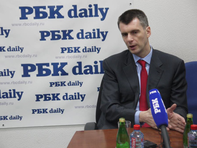 Runoff elections would contribute to democracy – Prokhorov