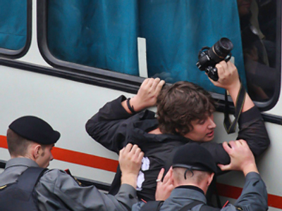 Over 100 unauthorized rally activists detained in Moscow