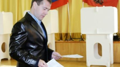 Four Russian parties make it to regional parliaments