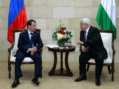 "Medvedev in the Middle East: ""This land needs peace"""