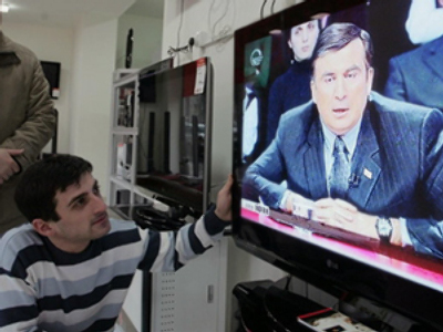 Saakashvili spouts off on live TV