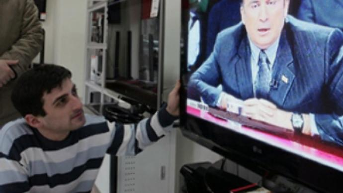 Saakashvili spouts off on live TV