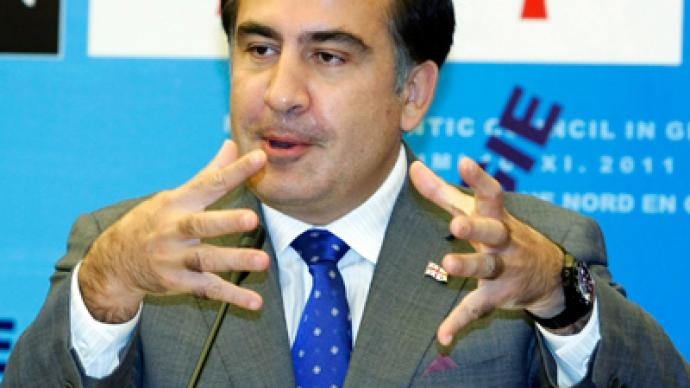 Georgian President Saakashvili 'eyeing Iran war to hold power'