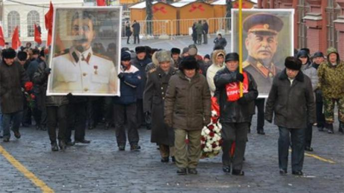 Red flowers for Stalin's birthday