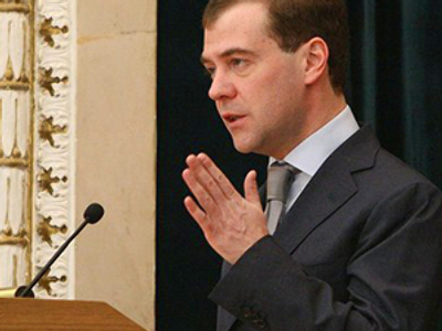 Confident in strategic deterrence, Medvedev promotes European security treaty