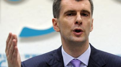 Prokhorov's new venture: Russian billionaire quits business, becomes 'politician only'