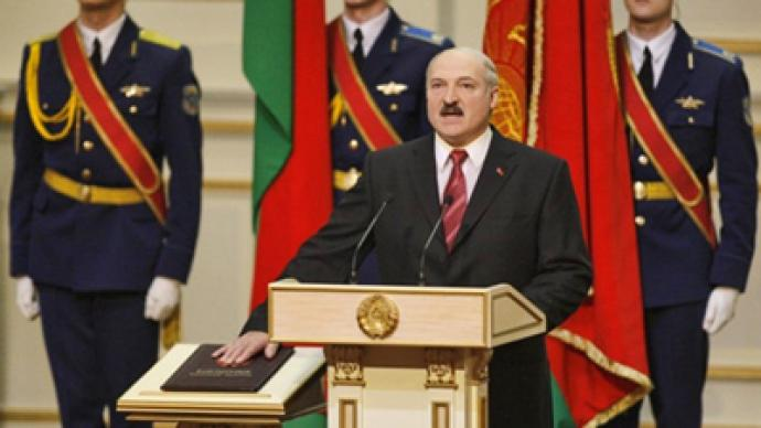 Lukashenko sworn in for fourth term as Belarusian president