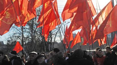 No to NATO, Afghan drugs and WTO: Communist anger spills into Russian streets