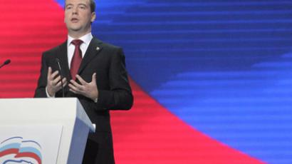Why does UR resemble Soviet Communist Party? Medvedev to answer