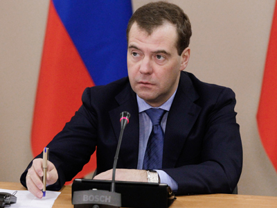 Medvedev occupies Putin's chair in United Russia