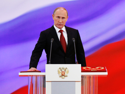 Back in the saddle, Putin faces uphill ride