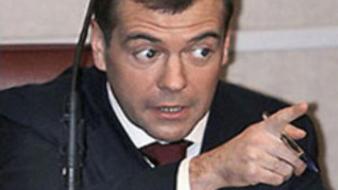 """We won't allow anyone to hurt Russia"" - Medvedev"