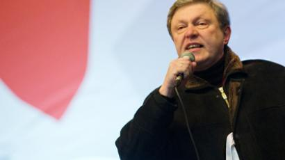Yabloko leader Yavlinsky out of presidential race